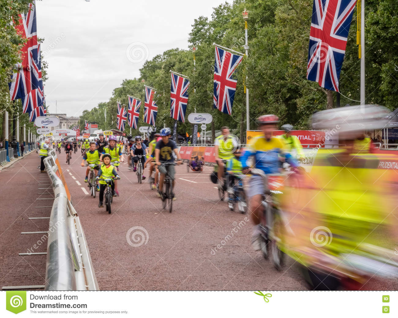 London Prudential Bicycle Ride Editorial Stock Image - Image