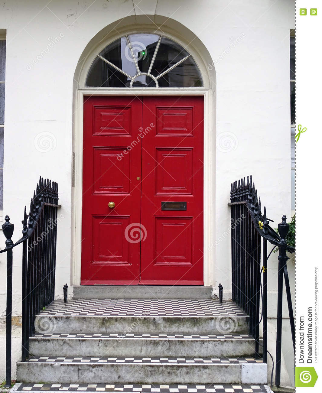London Red Door Stock Photo Image Of Gild Door British 75088928