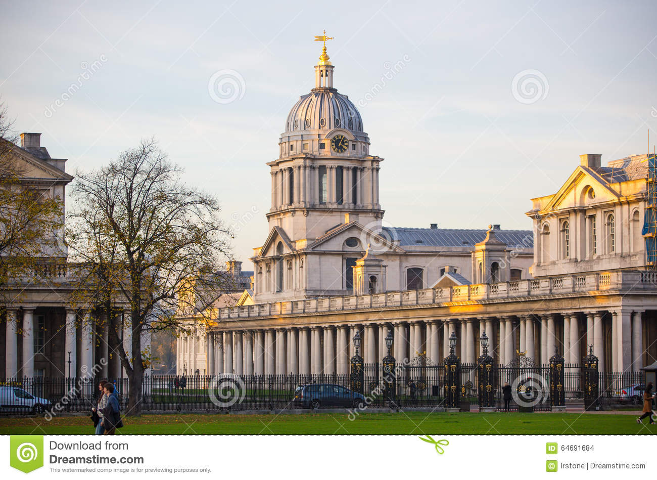 LONDON Royal Chapel South Of London Classic Architecture British Empire Period College Chaple