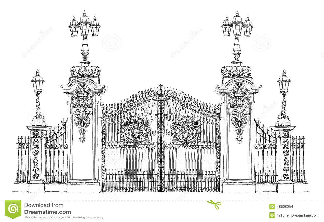 London Sketch Collection Buckingham Palace Gate