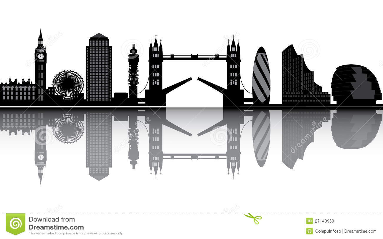 London Skyline Stock Vector Illustration Of Modern Mary