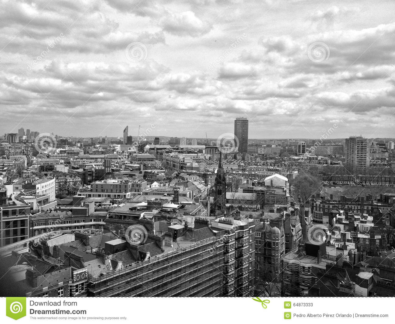 London Skyline In Black And White Stock Photo - Image ...  London Skyline Black And White