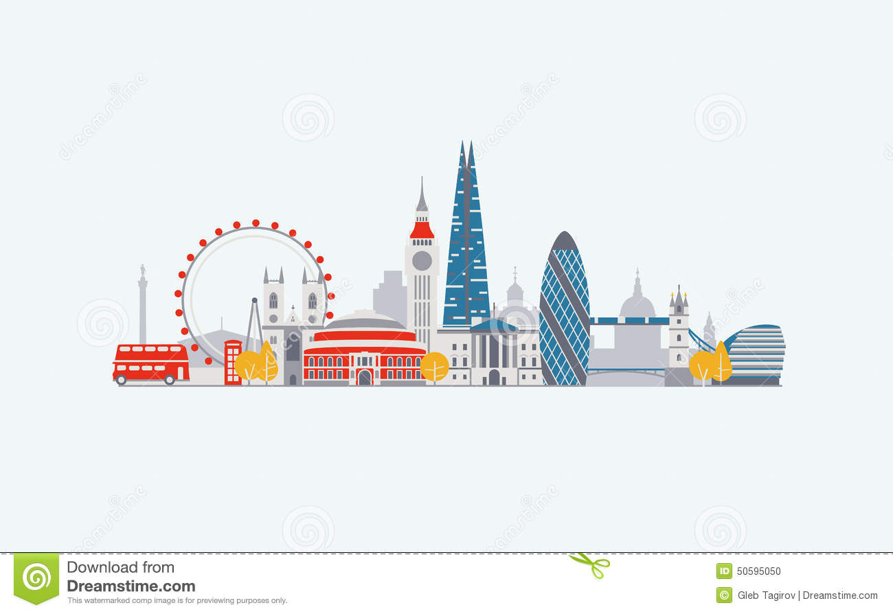 london skyline stock vector illustration of london  front cityscape clipart/guitar & vector cityscape clipart free