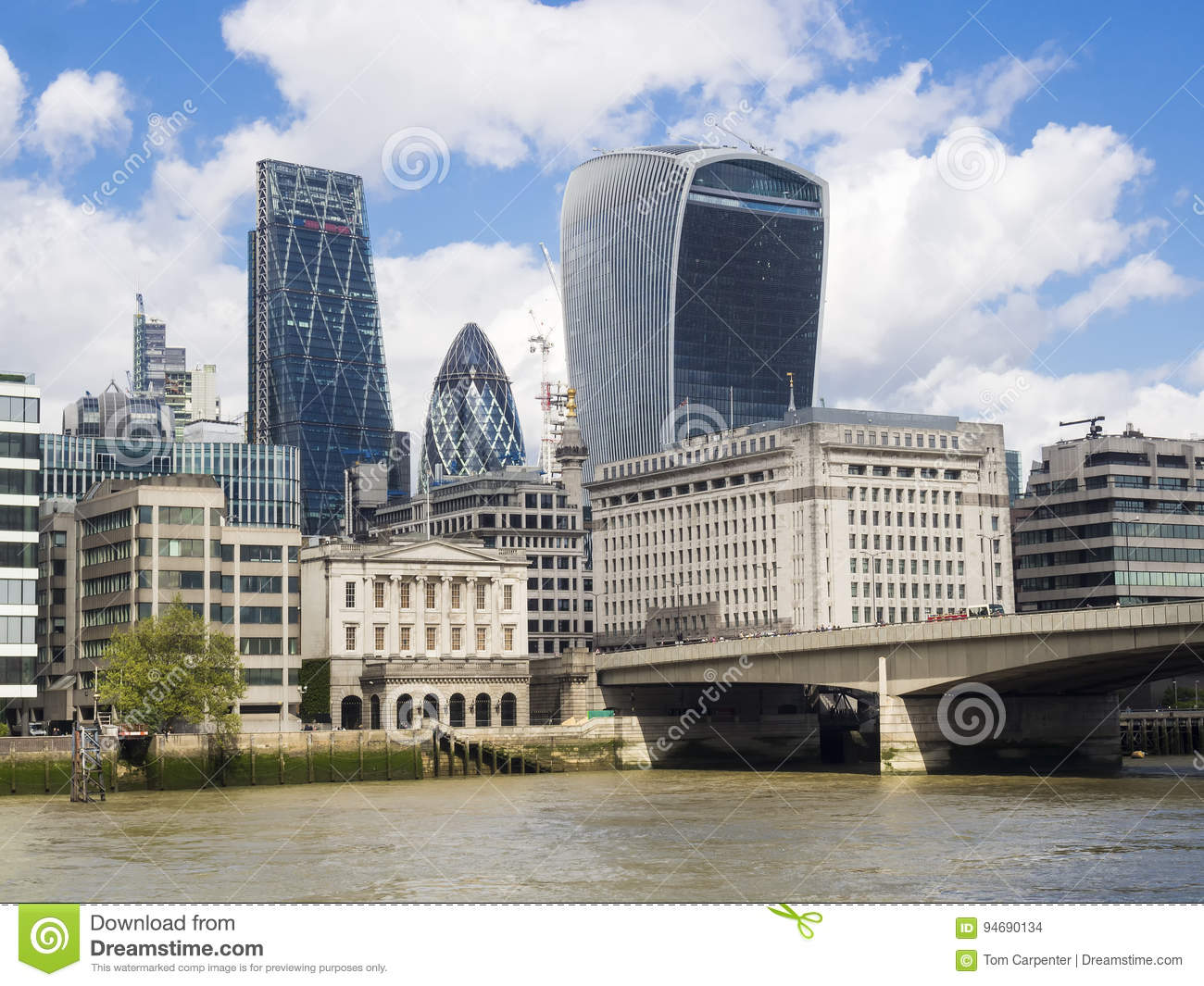 London Skyline Near London Bridge Editorial Stock Image - Image of  cityscape, architecture: 94690134