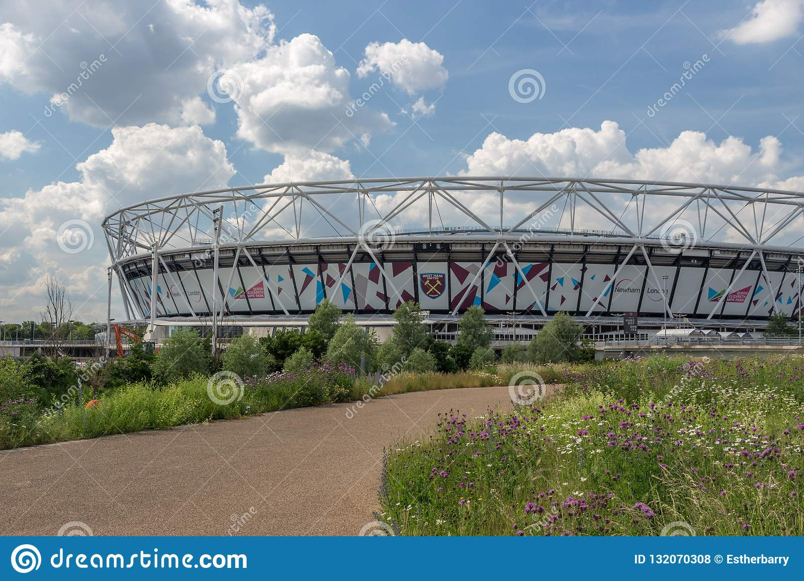 London Stadium , West Ham United`s Stadium in Queen Elizabeth Olympic Park,