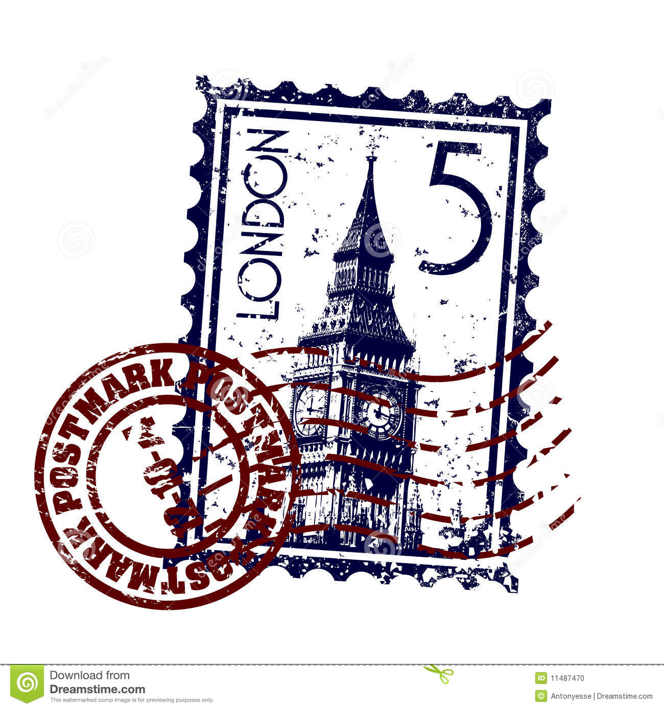London Stamp Or Postmark Style Grunge Stock Photo - Image: 11487470