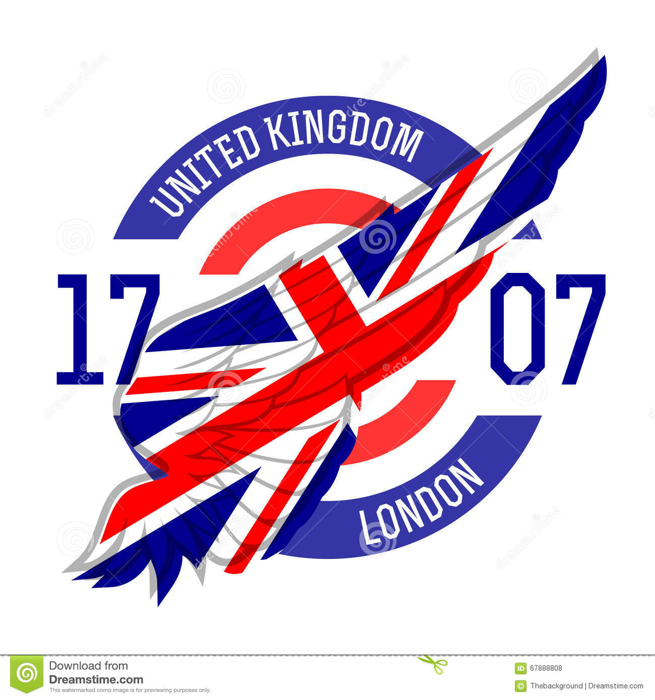 Shirt design london - London T Shirt Design Tee Templates With Wing And United Kingdo