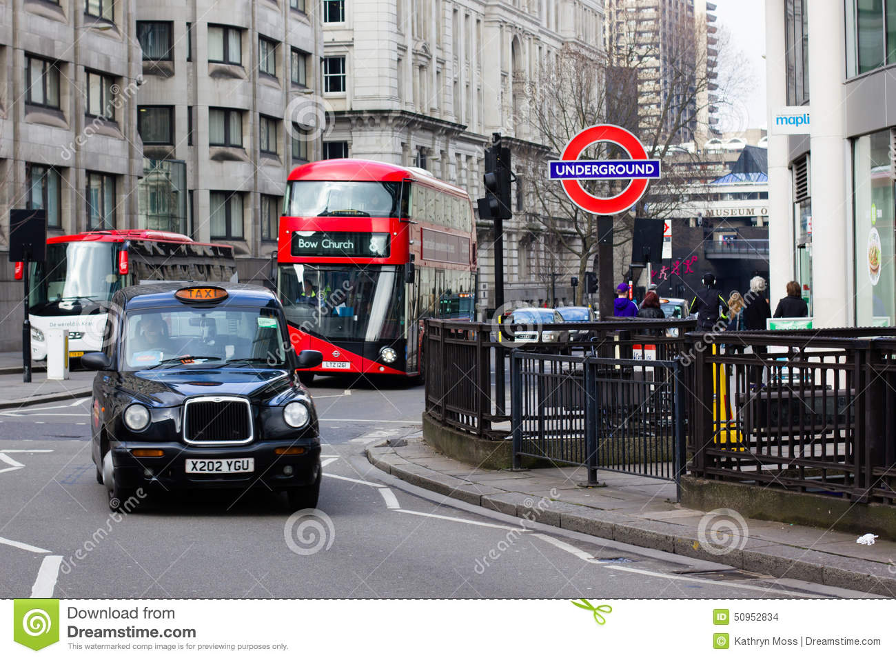 Underground Vector London Taxi, Bus And U...