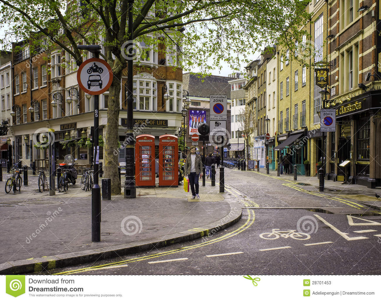 London Theatre District, England Editorial Stock Photo
