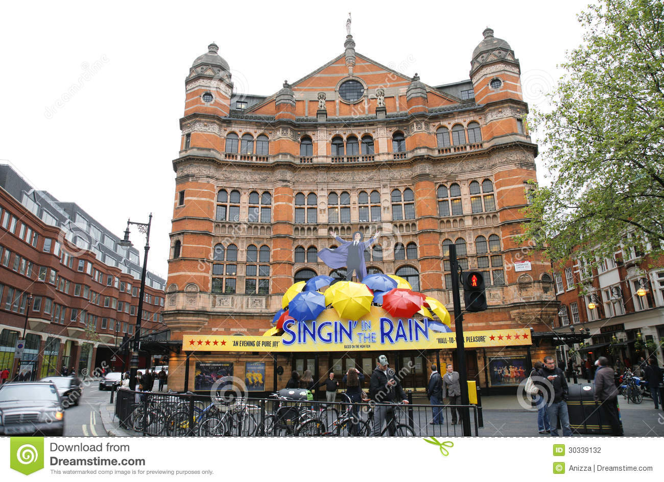 London , UK - May 06, 2012: Outside view of Palace Theatre, West End ...