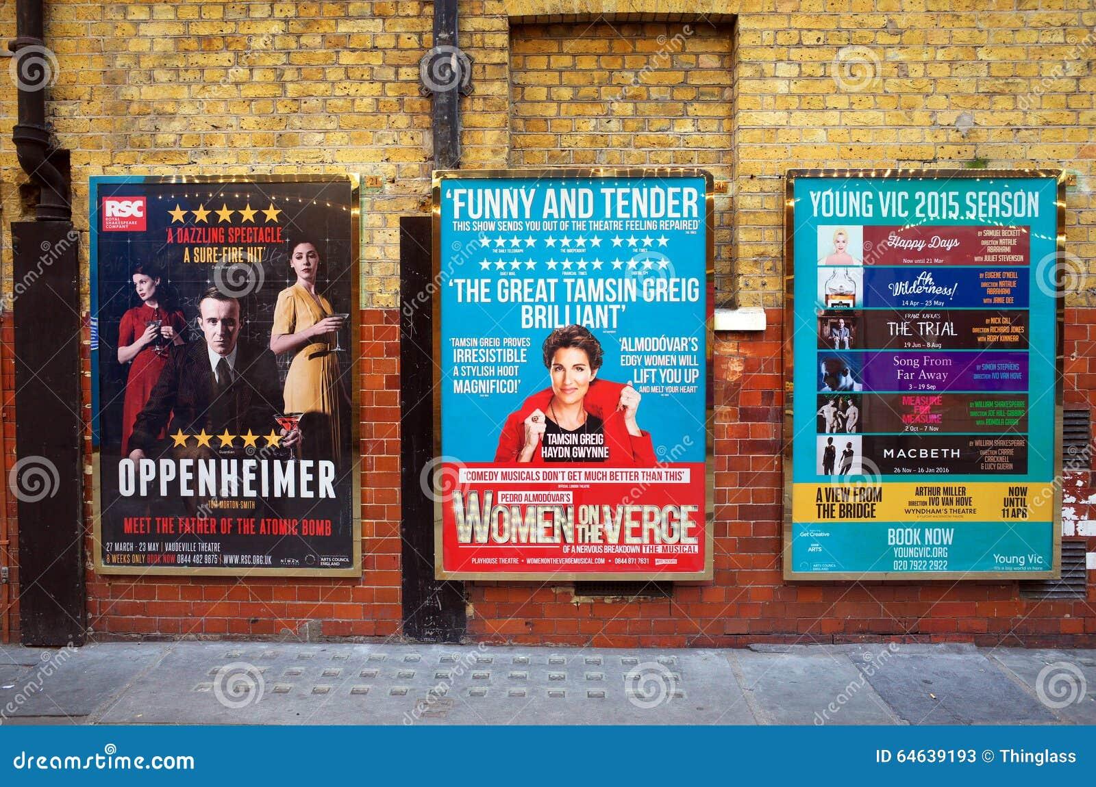 Theatre Posters In England Editorial Image | CartoonDealer ...