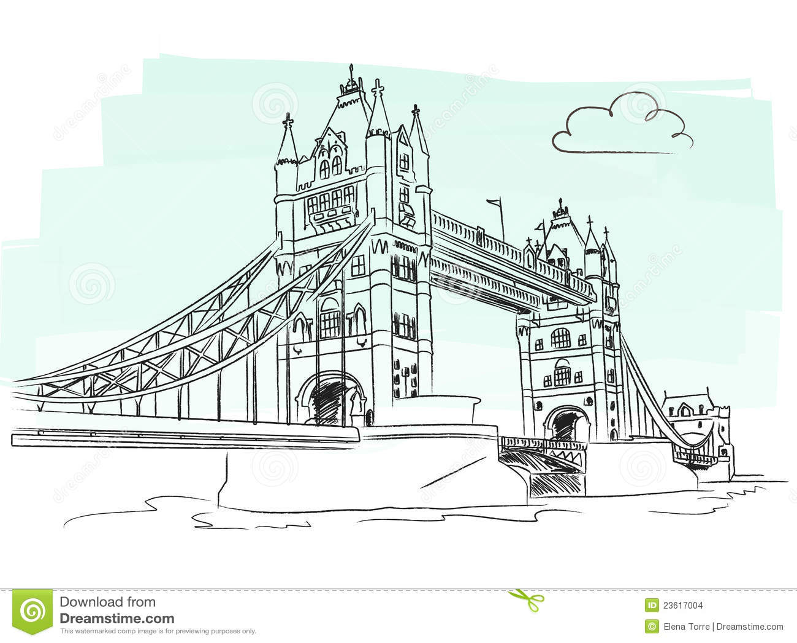 London Tower Bridge Vector Stock Vector. Image Of London - 23617004