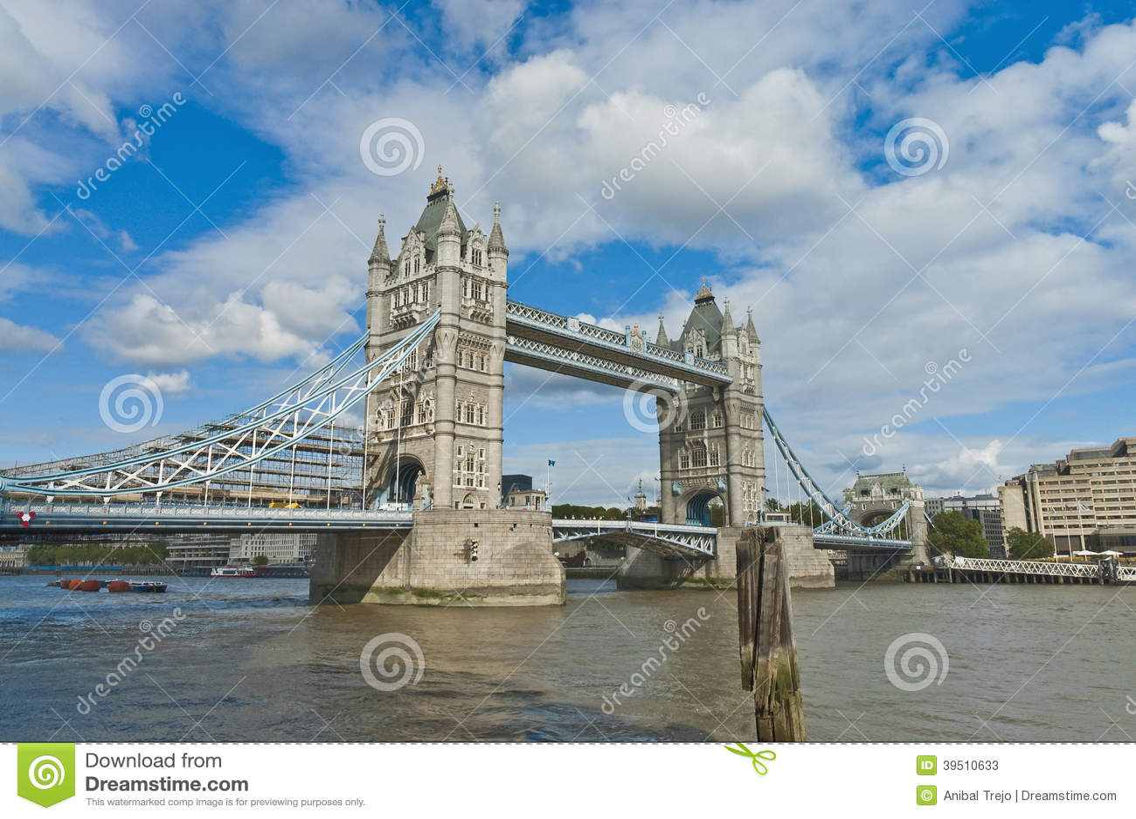 Download London Tower Bridge stock image. Image of edifices, capital - 39510633