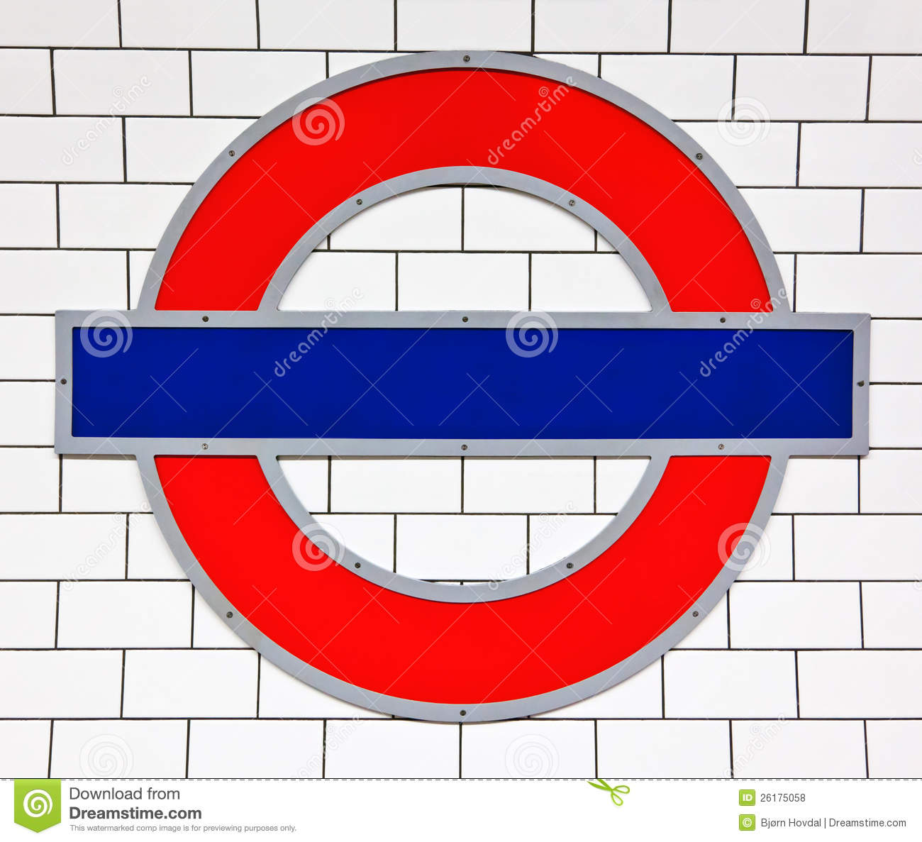 London Tube Sign Editorial Stock Photo - Image: 26175058