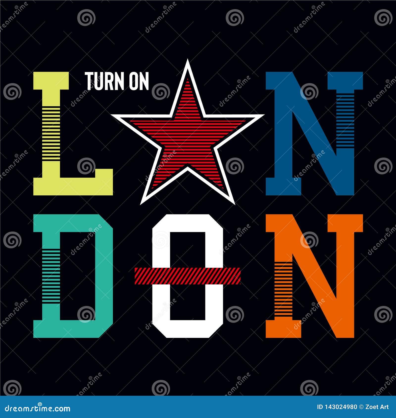 London turn on design graphic typography