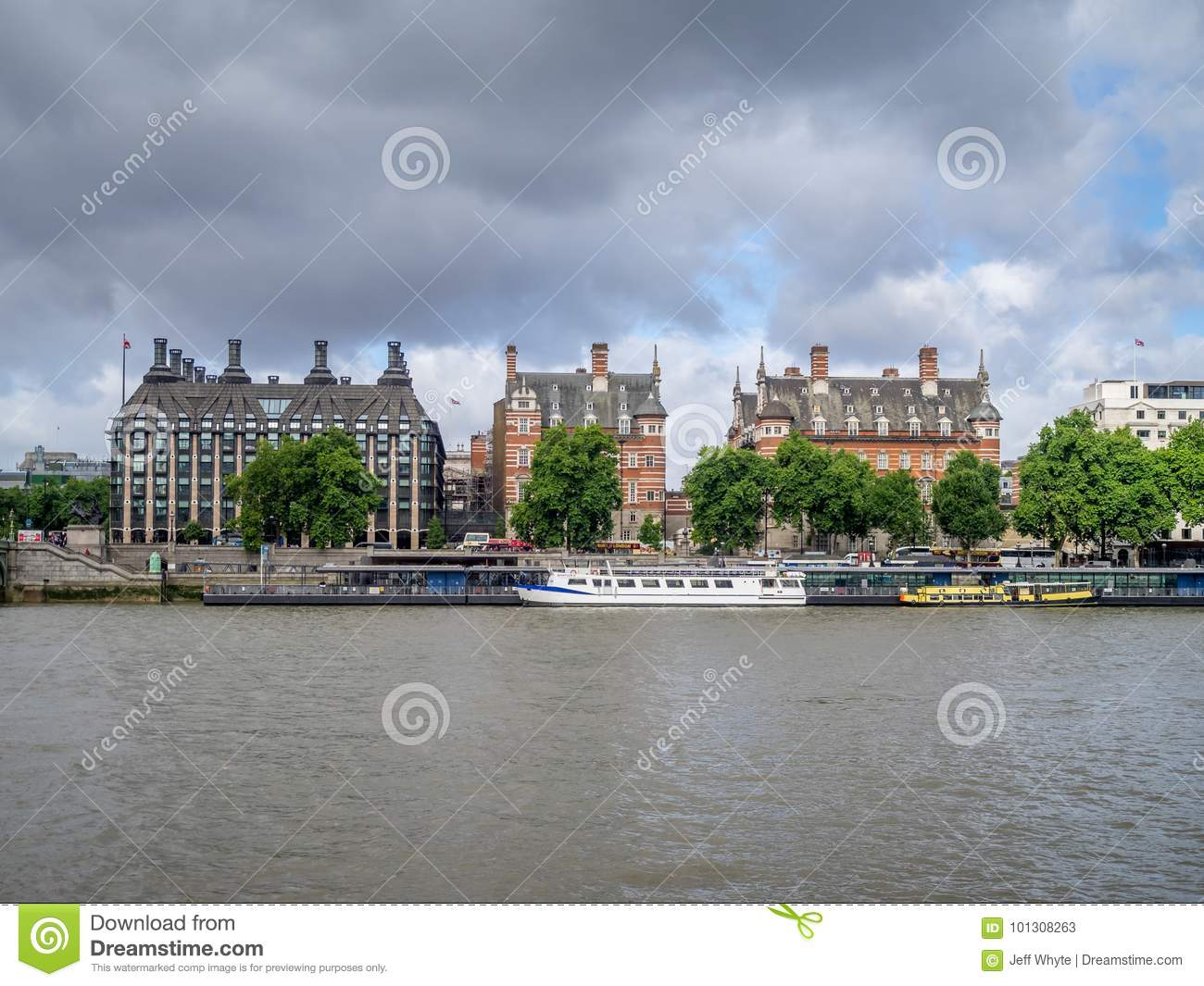 London Along The River Thames Editorial Stock Photo