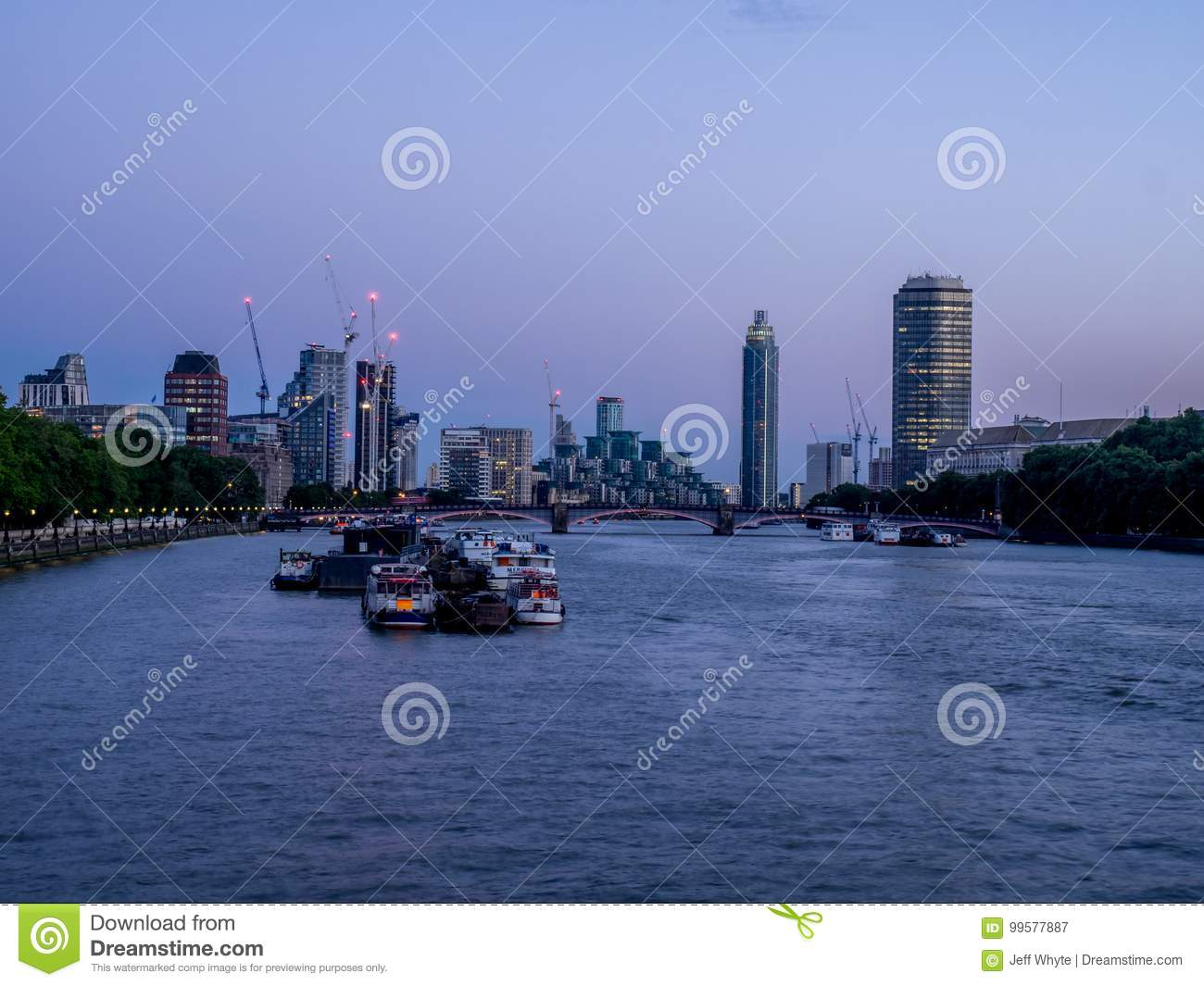 View Down The River Thames Editorial Photography Image Of London