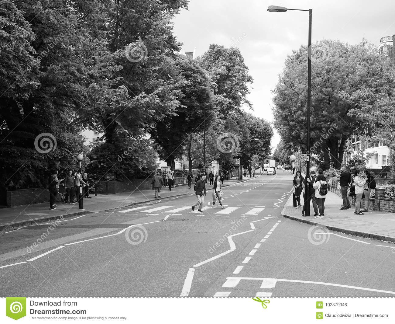 Abbey Road Crossing In London Black And White Editorial Photo