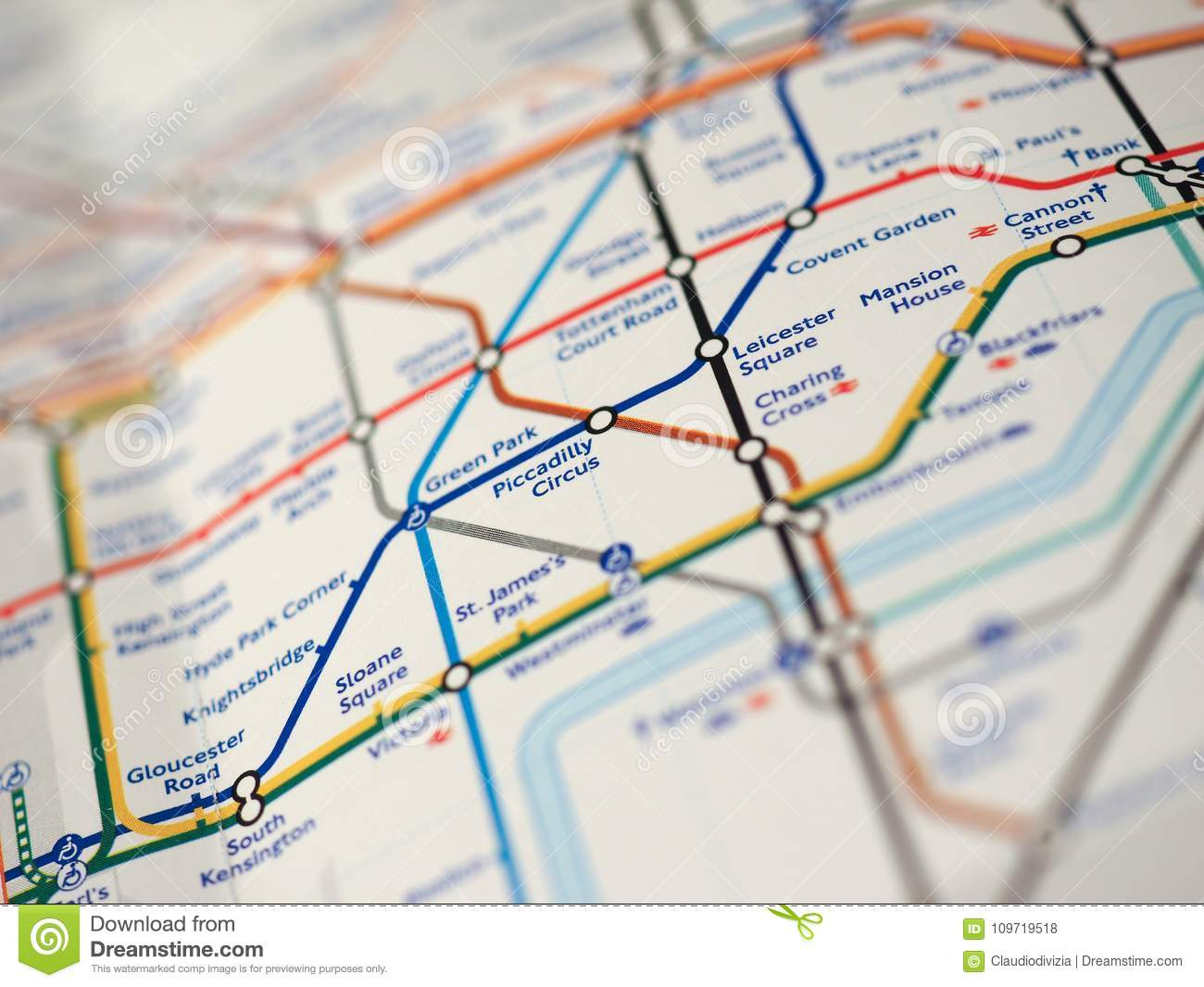Street Map Of London With Tube Stations.Map Of London Underground Editorial Stock Photo Image Of Oxford