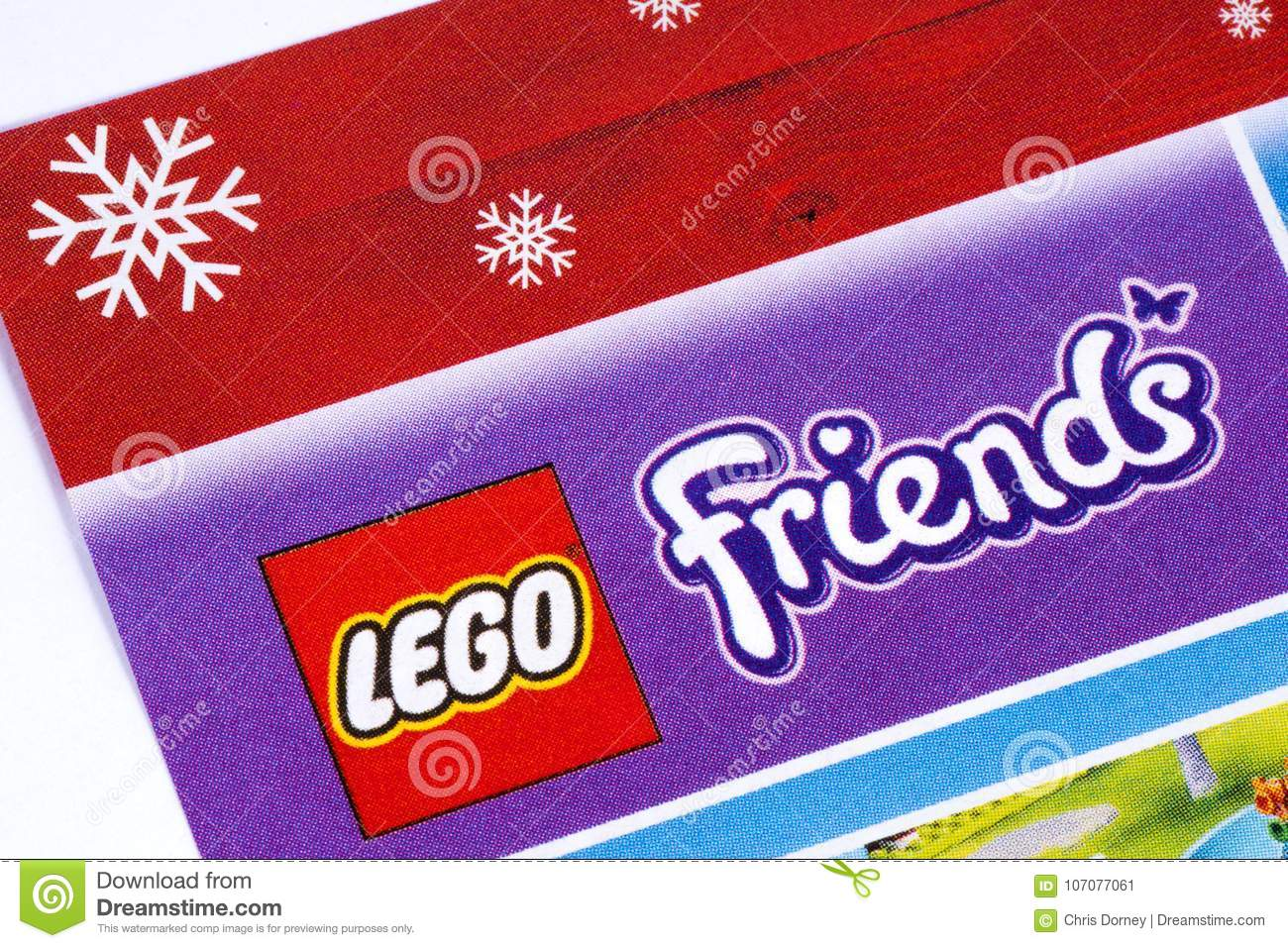 Lego Friends Logo In A Catalogue Editorial Photo Image Of Female