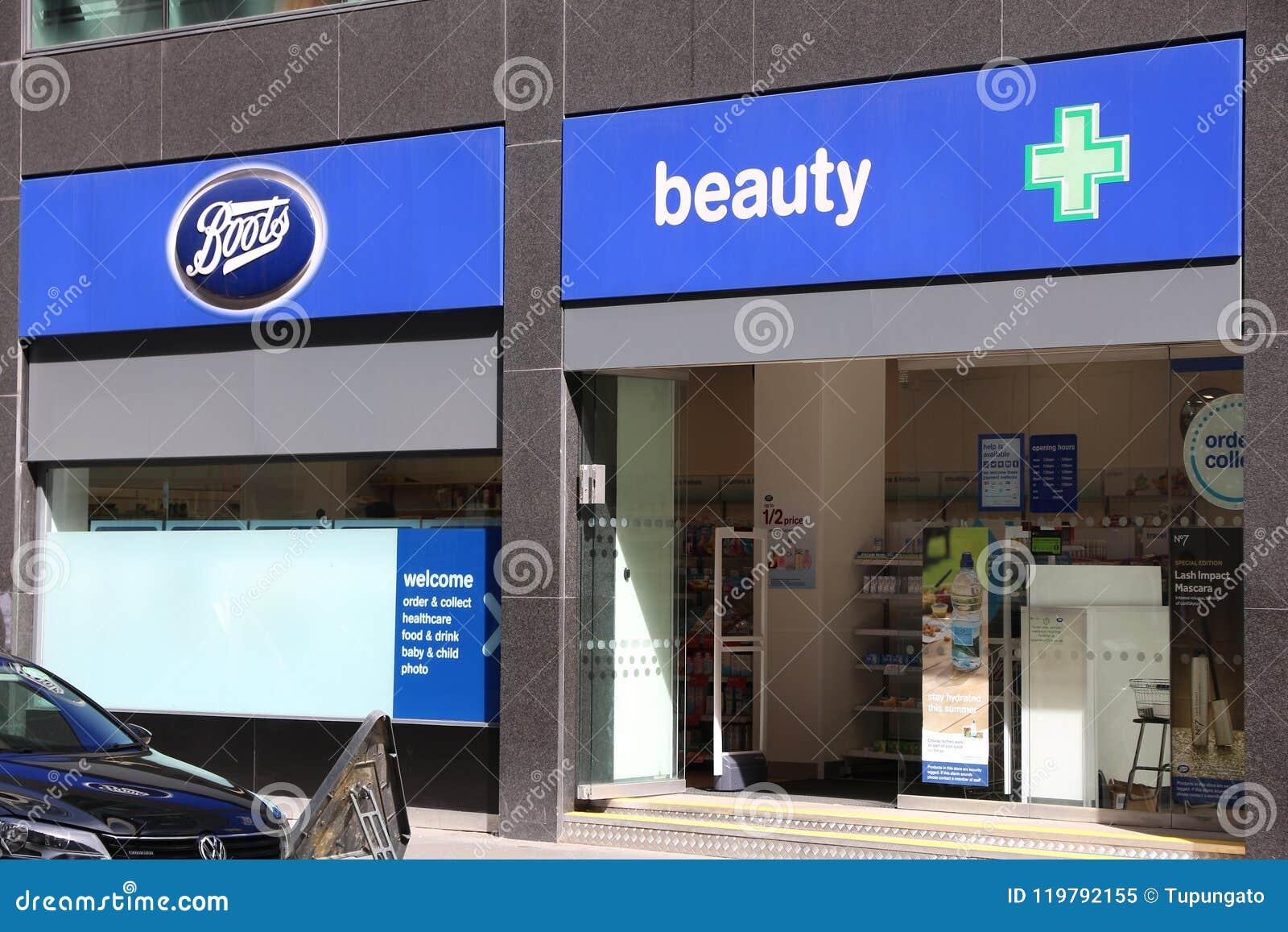 Boots pharmacy UK editorial image. Image of shopping , 119792155
