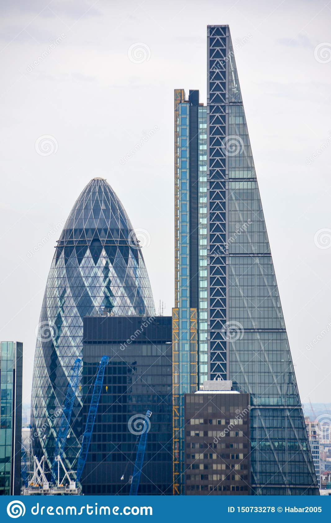 LONDON, UK - JULY 19, 2014: City of London one of the leading centers of global finance.