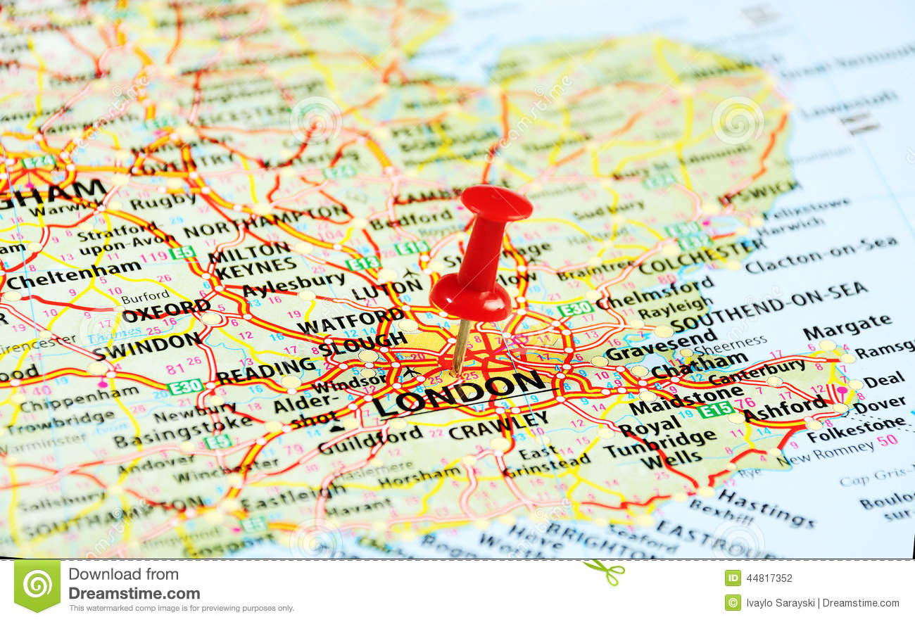 London UK Map Pin Photo Image 44817377 – Map of London Uk