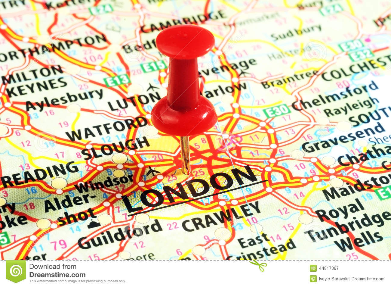 London UK Map Pin Photo Image 44817352 – London Travel Maps