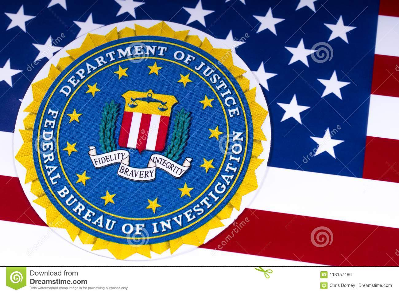 Fbi Logo And The Usa Flag Editorial Photo Image Of Dept 113157466