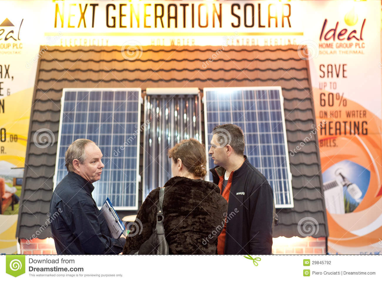 Customers Buying Solar Panels Editorial Photography - Image: 29845792