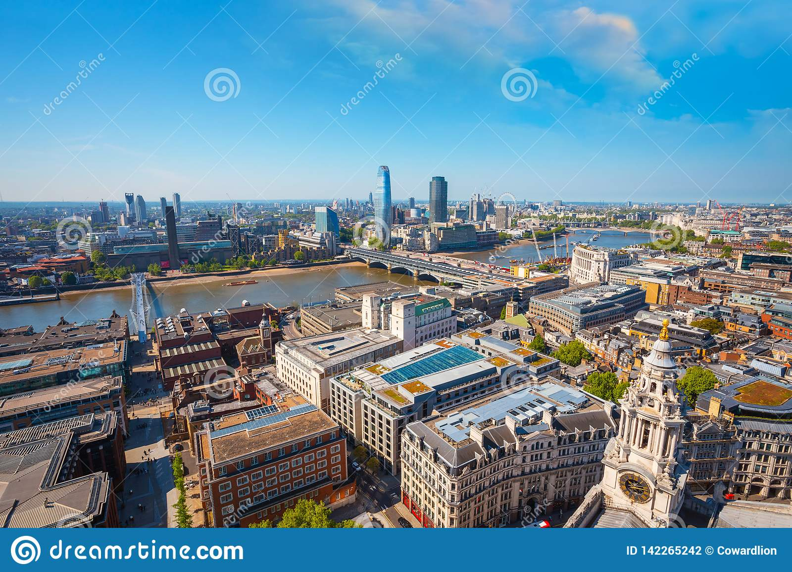 View Of London Cityscape From The Golden Gallery Of St  Paul