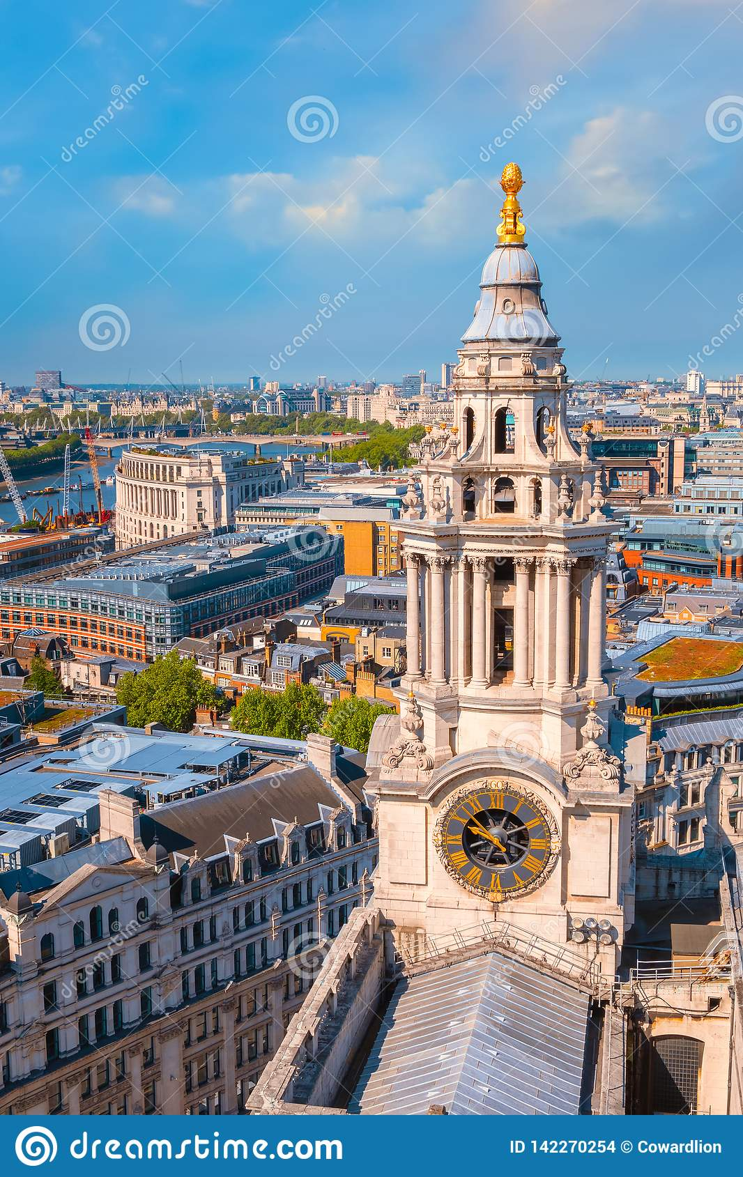 View Of London Cityscape From The Stone Gallery Of St Paul S Cathedral Stock Photo Image Of London Architecture 142270254