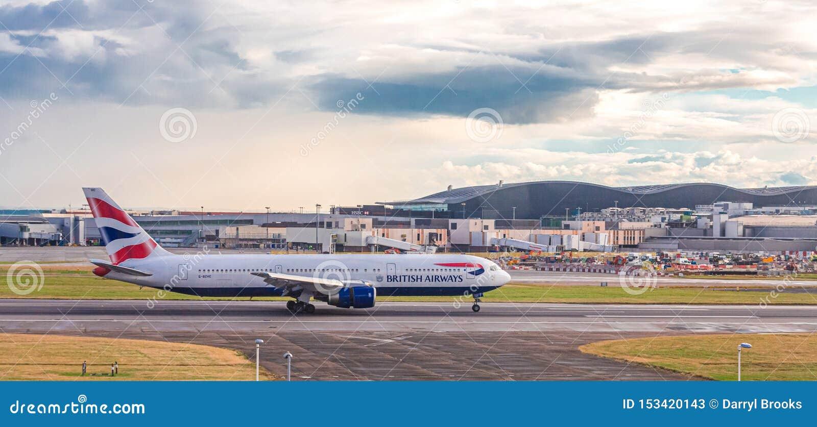 British Airways on Taxiway