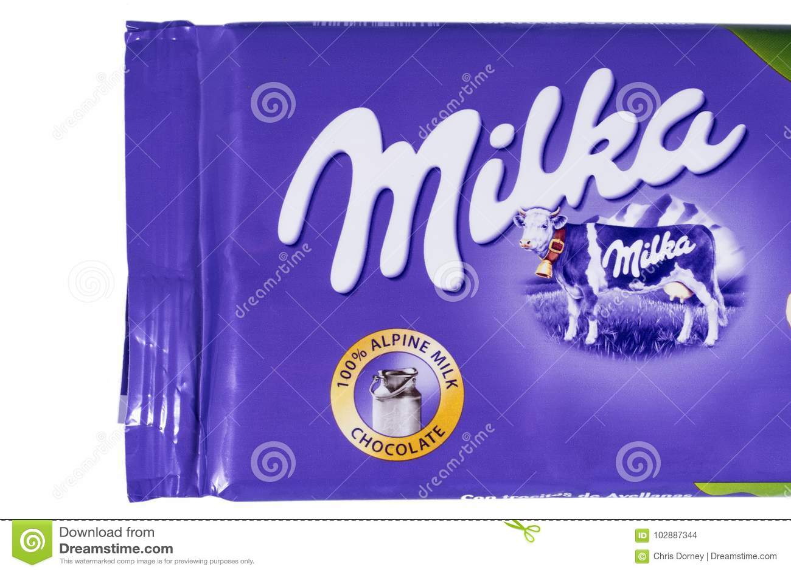 Milka Chocolate Bar Editorial Stock Image Image Of Close