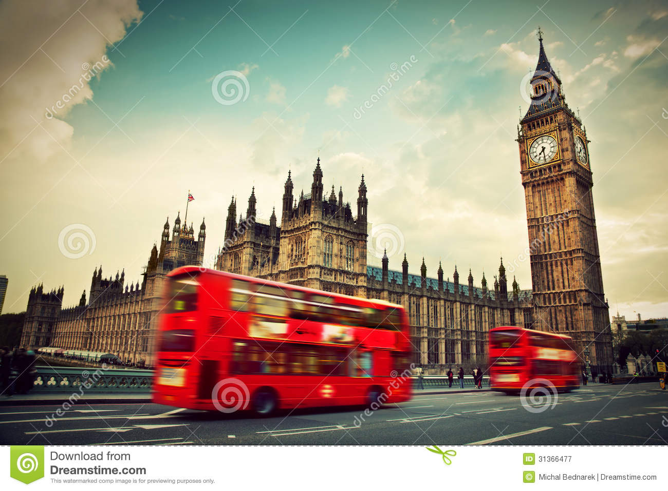 Download London, The UK. Red Bus And Big Ben Stock Image - Image of historical, bridge: 31366477