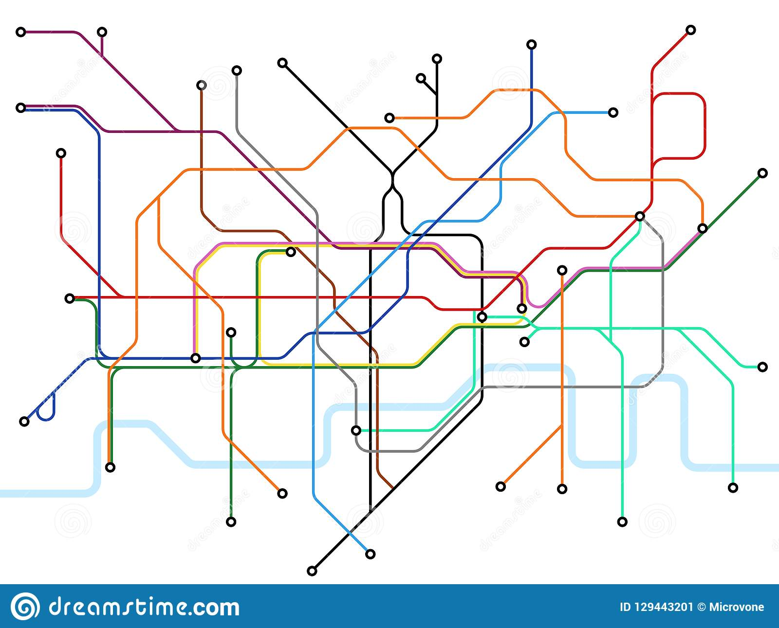 London Map With Train Stations.London Underground Map Subway Public Transportation Scheme Uk