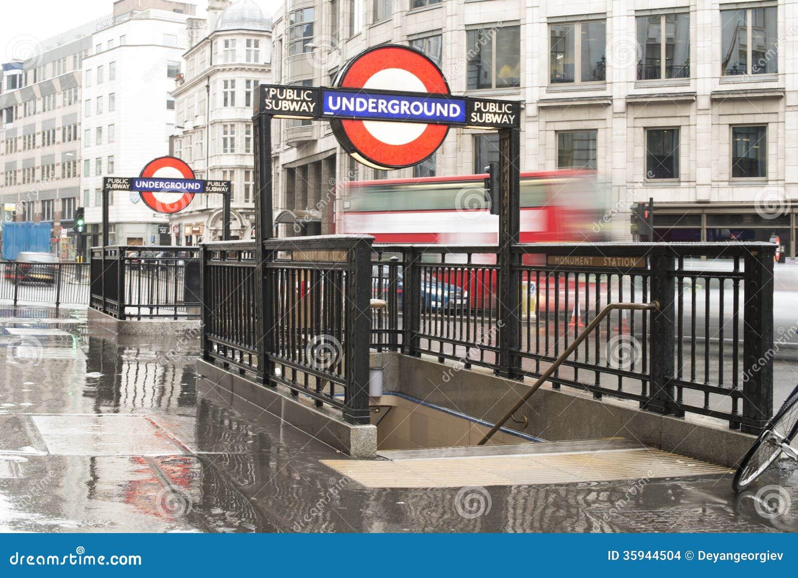 London Underground Station Entrance Editorial Stock Image