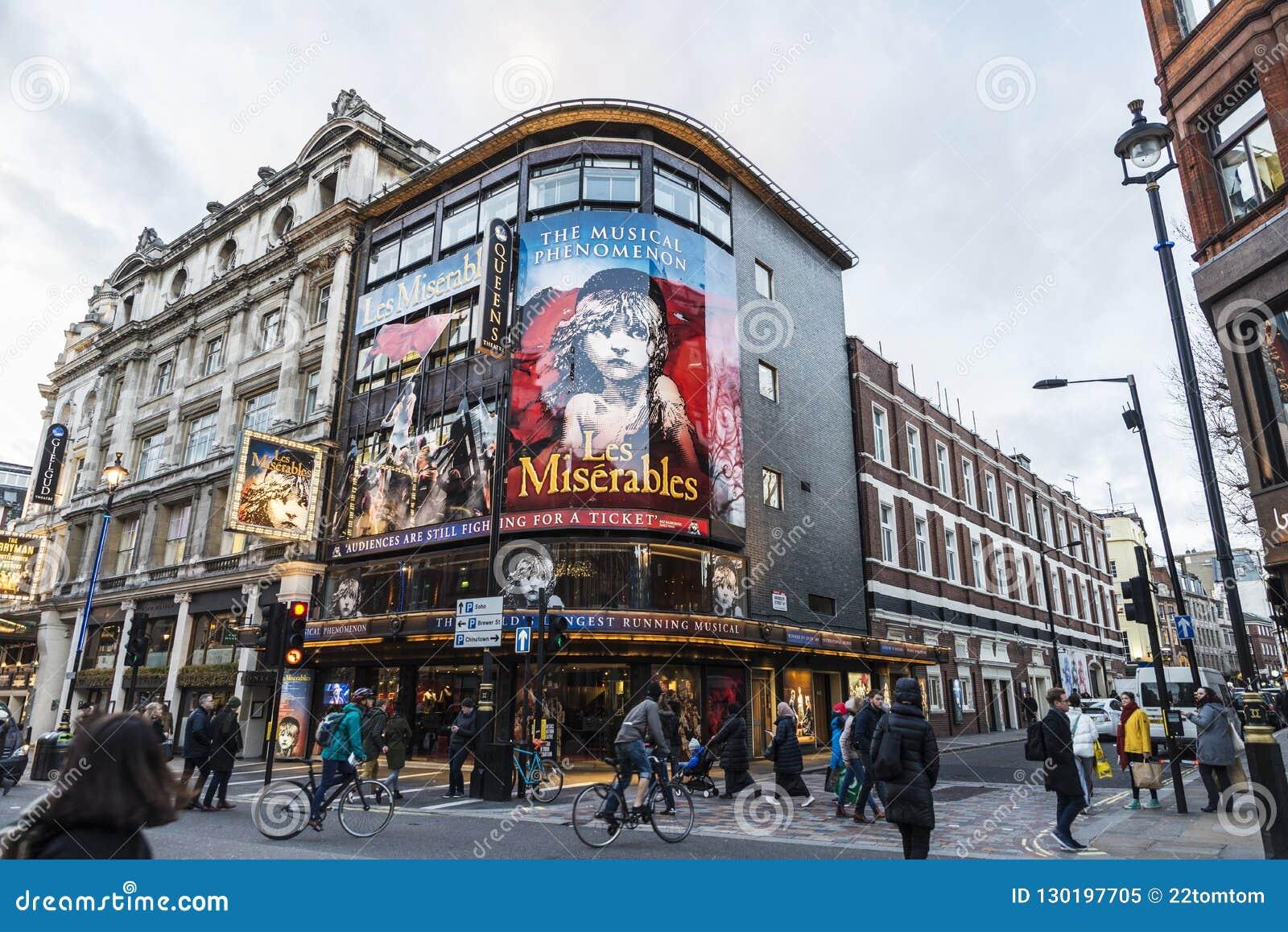 Shaftesbury Avenue in London, England, United Kingdom