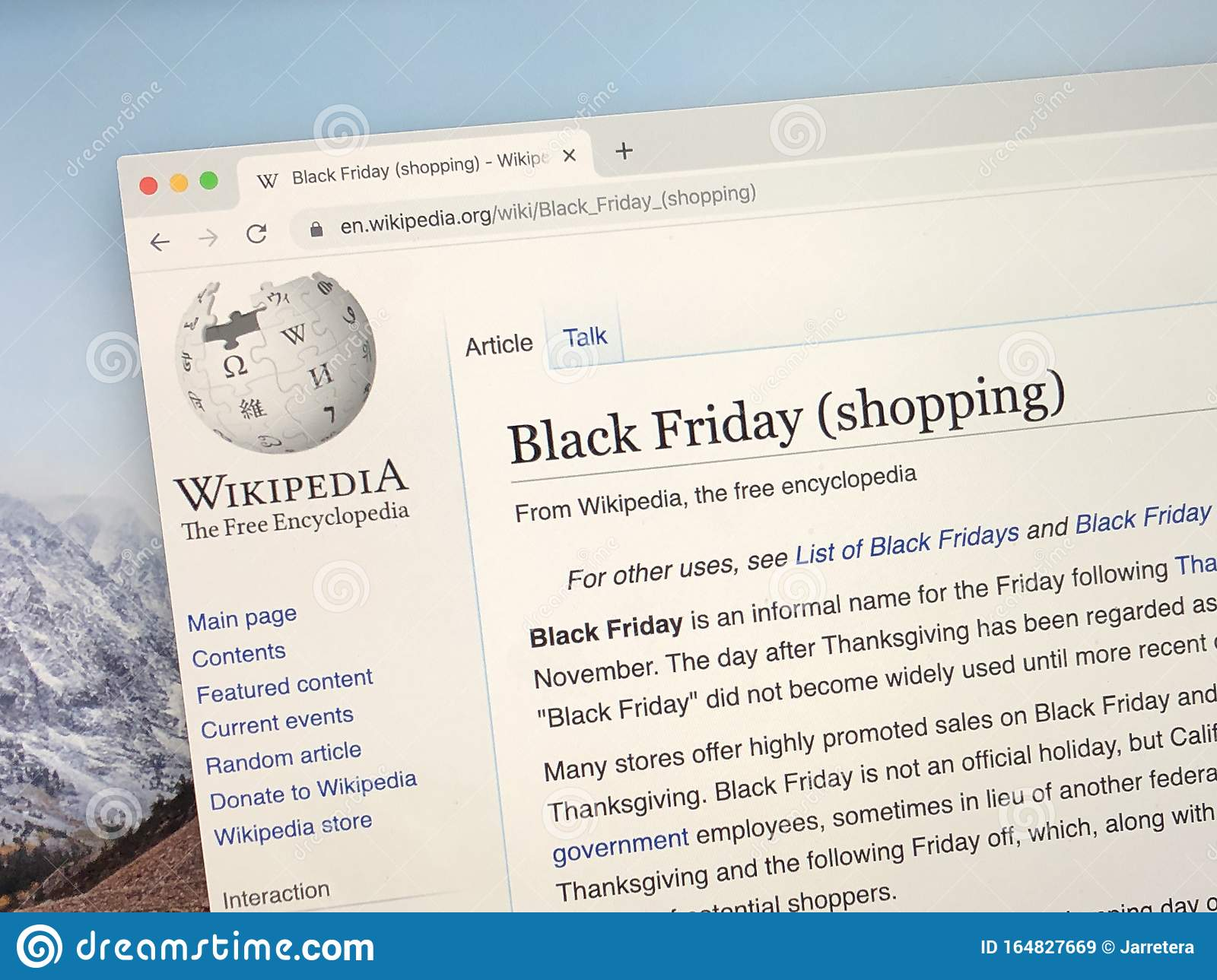 Wikipedia Page About Black Friday Editorial Stock Image Image Of News Pseudo 164827669