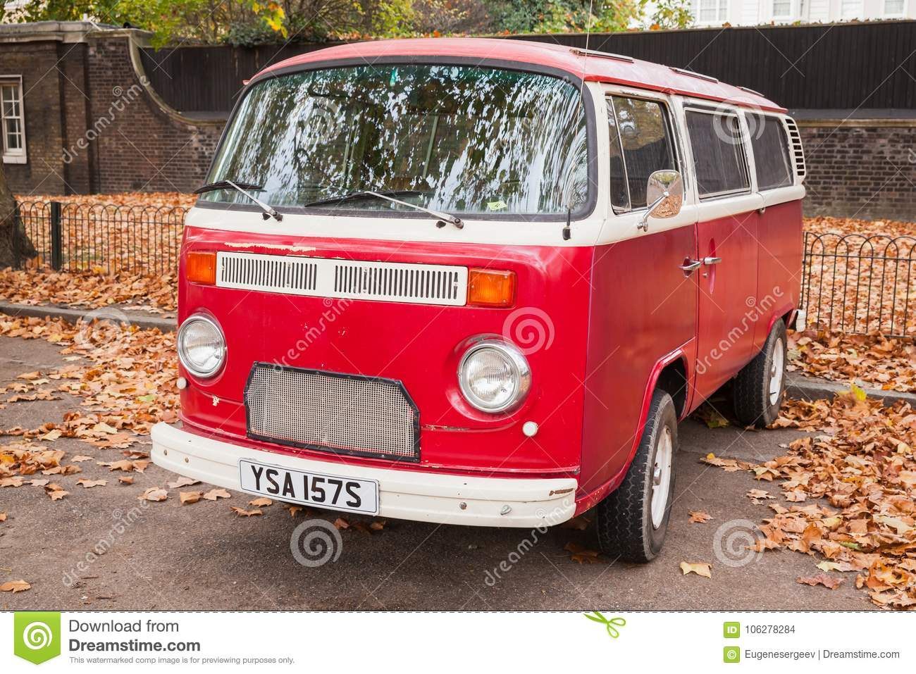 0a099d73ce Volkswagen Type 2 Or T2 Red Van Editorial Stock Image - Image of ...