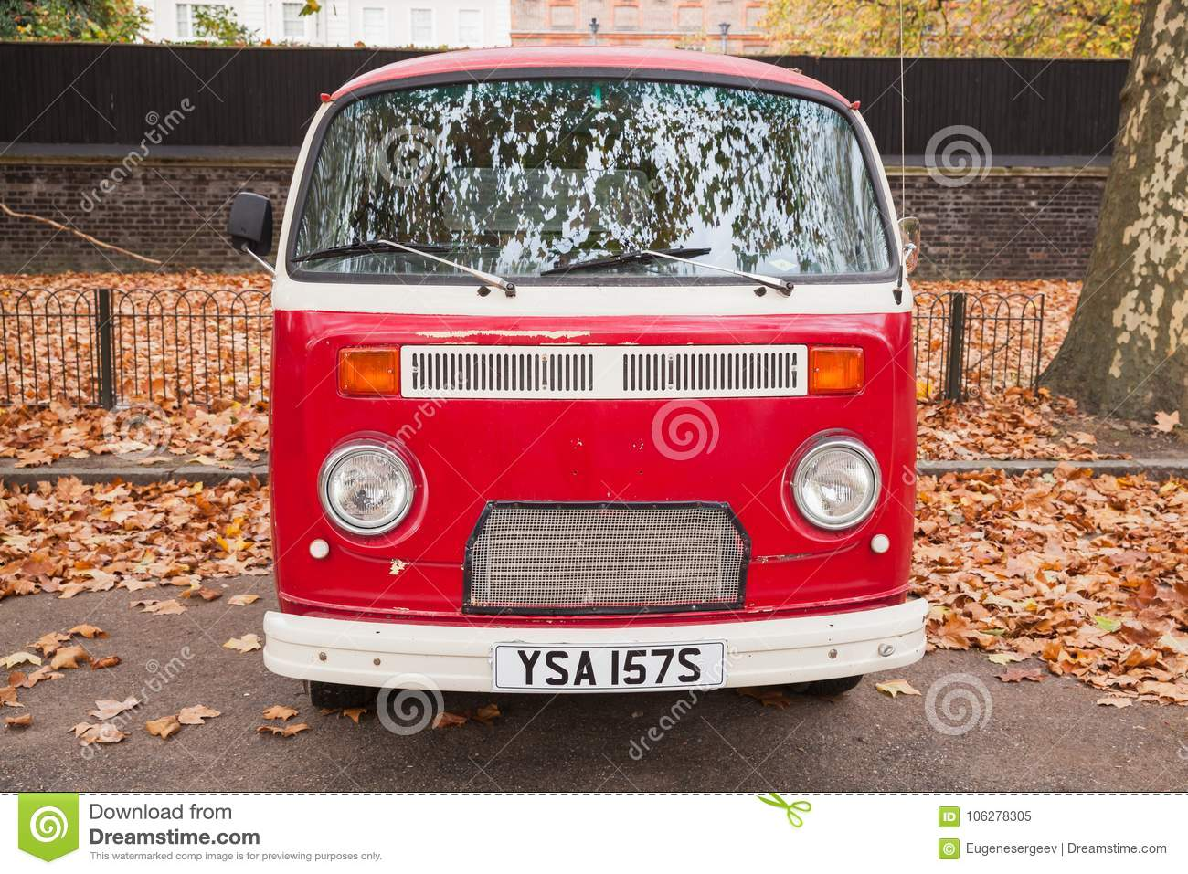 c042ecd289 Volkswagen Type 2 Or T2 Red Van