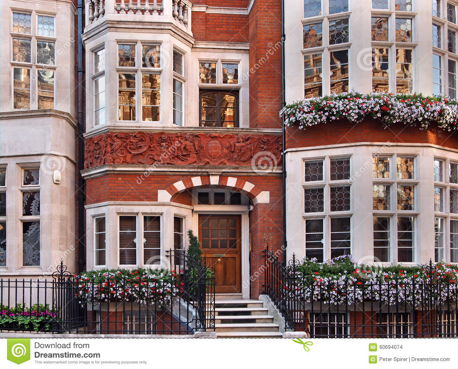 London utsmyckat gammalt radhus