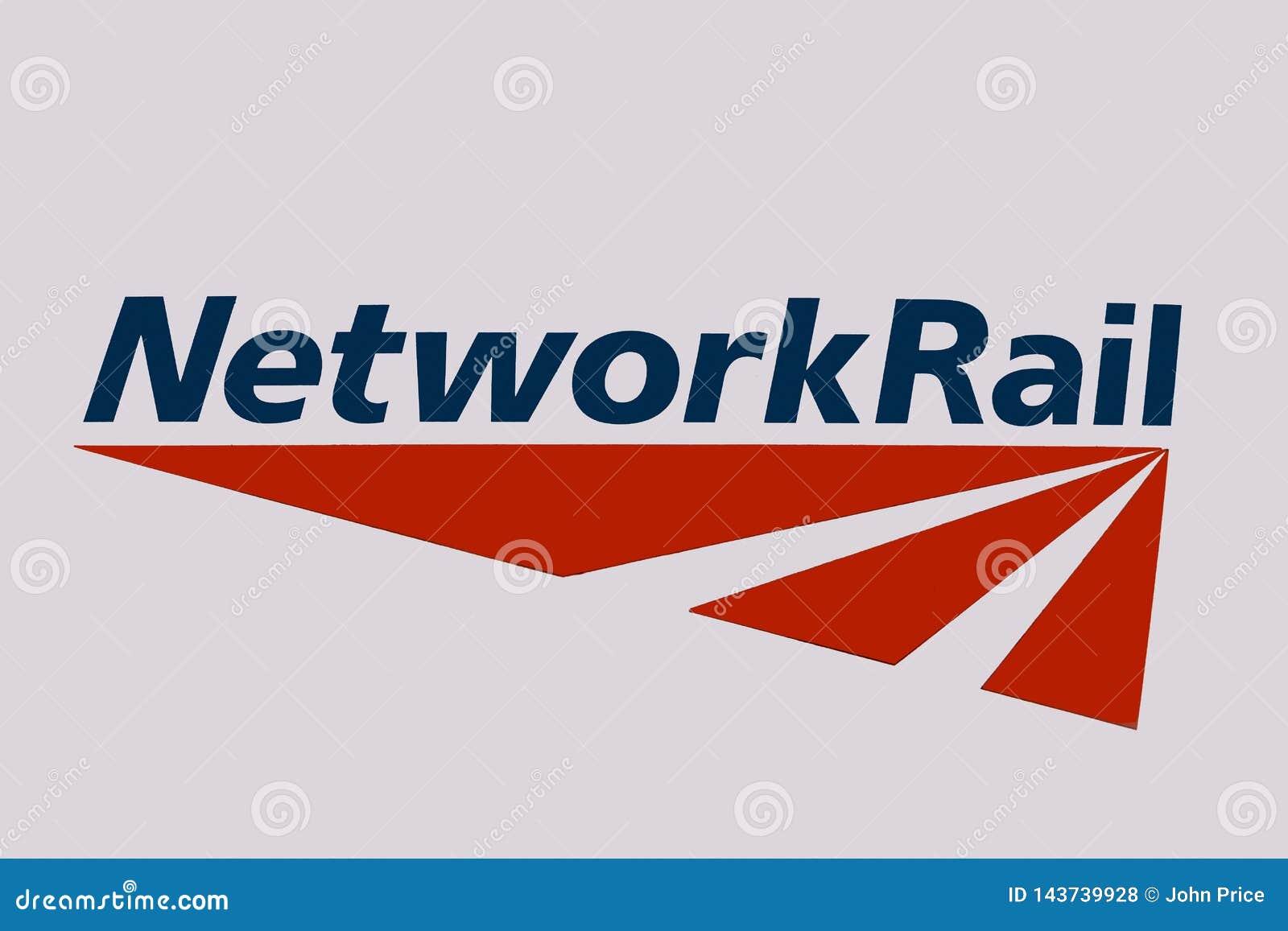 London/Vereinigtes Königreich - 2. April 2019: Network Rail Infrastructure Limited-Logo