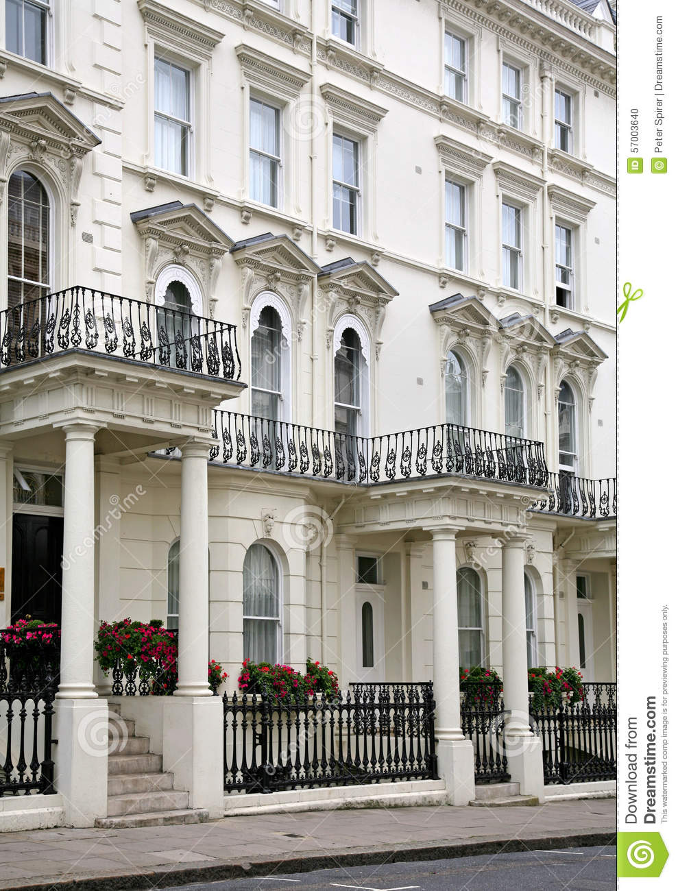London victorian townhouses stock photo image 57003640 for Victorian townhouse plans