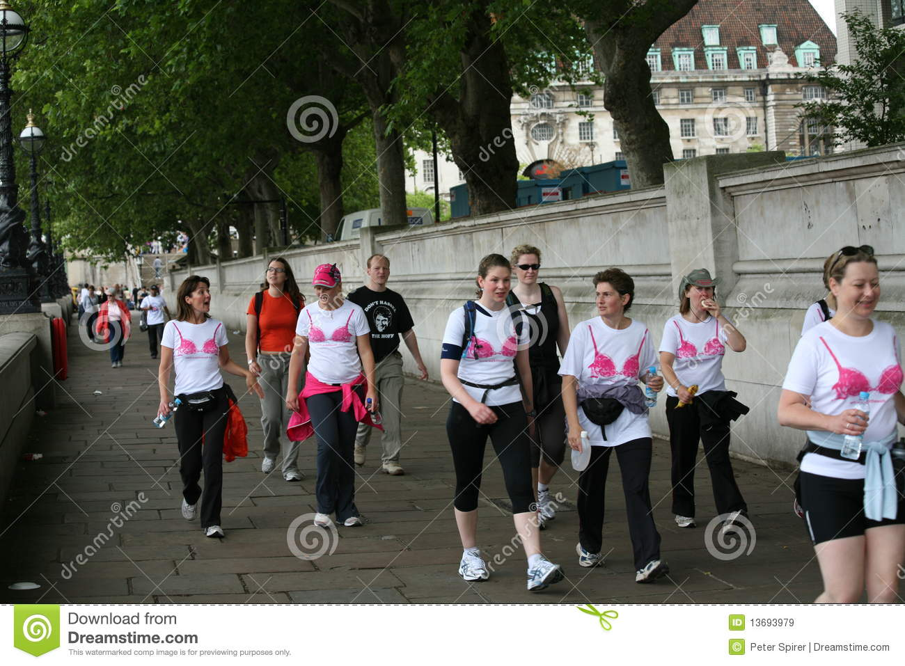 breast cancer walk london