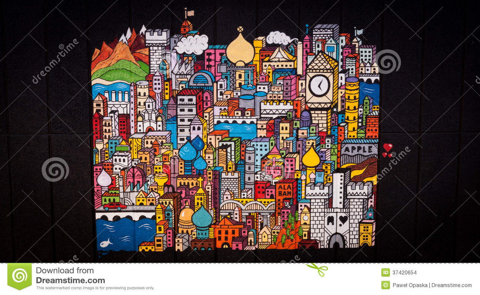 London Wall Art london wall art editorial stock image - image: 37420654