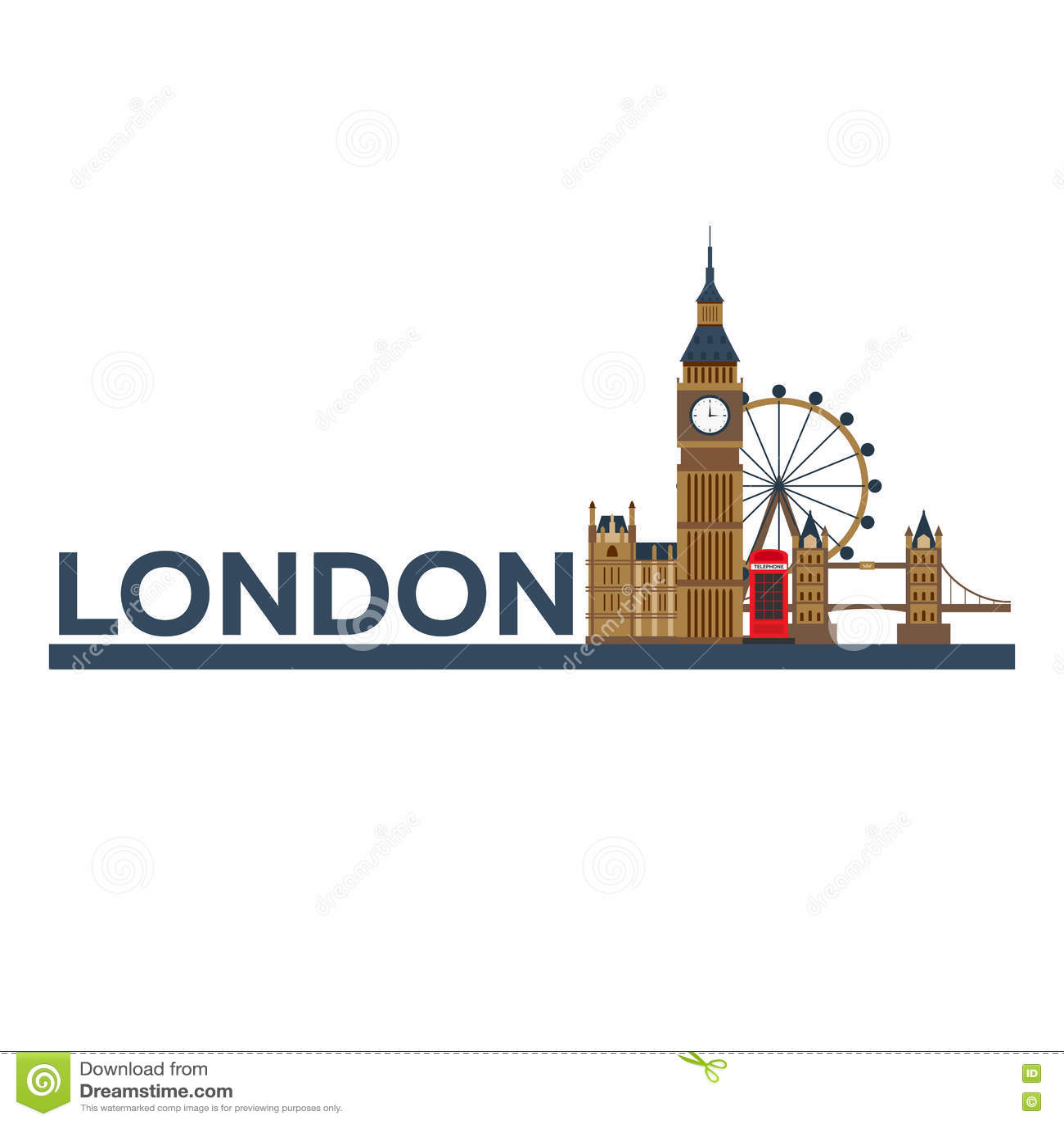 Londres Arquitectura inglesa Turismo Ciudad de Londres del ejemplo que viaja Diseño plano moderno INTERDICCIÓN GRANDE inglaterra