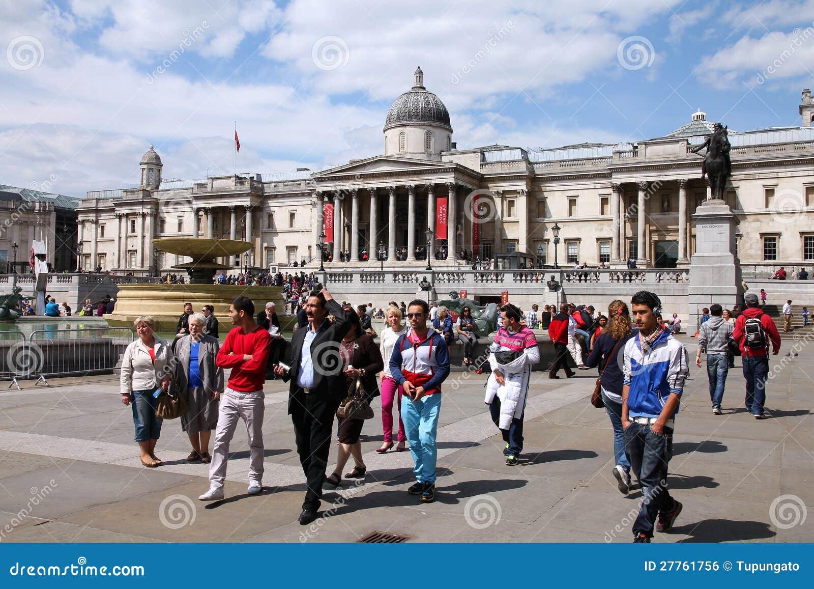 Londres - grand dos de Trafalgar