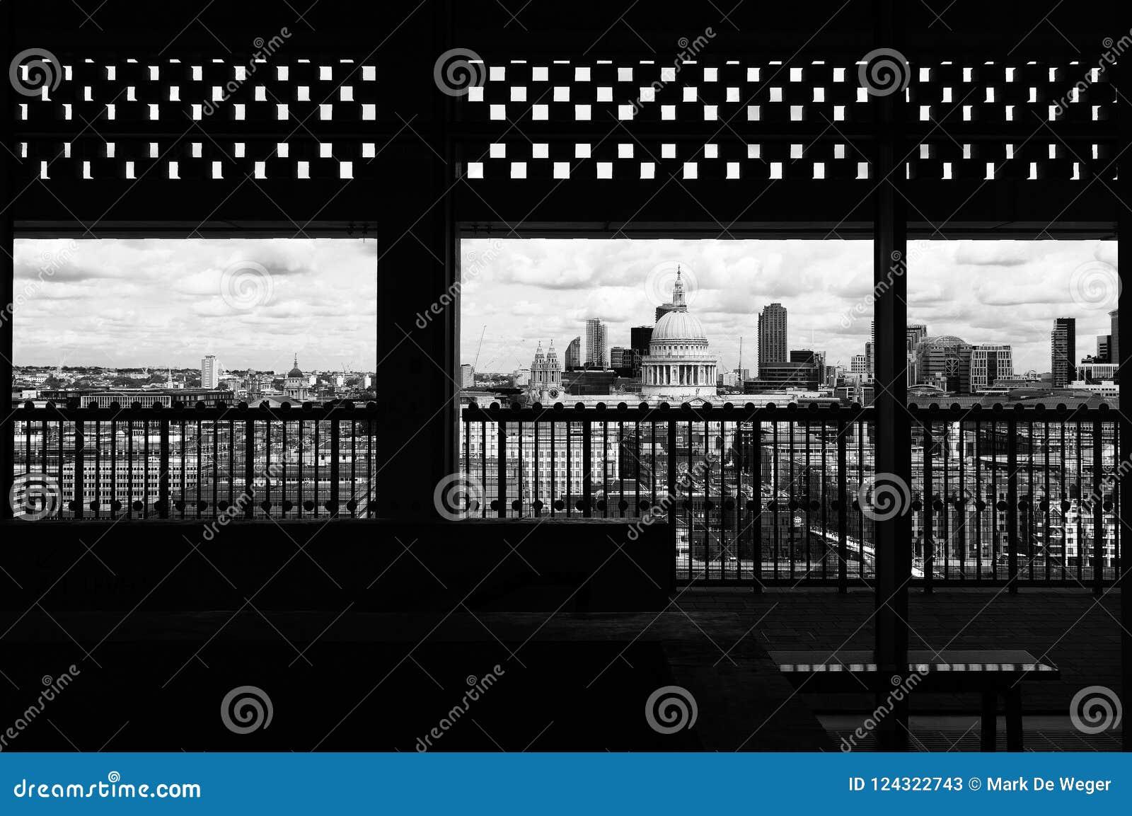 Londres, horizon, encadré, St Pauls
