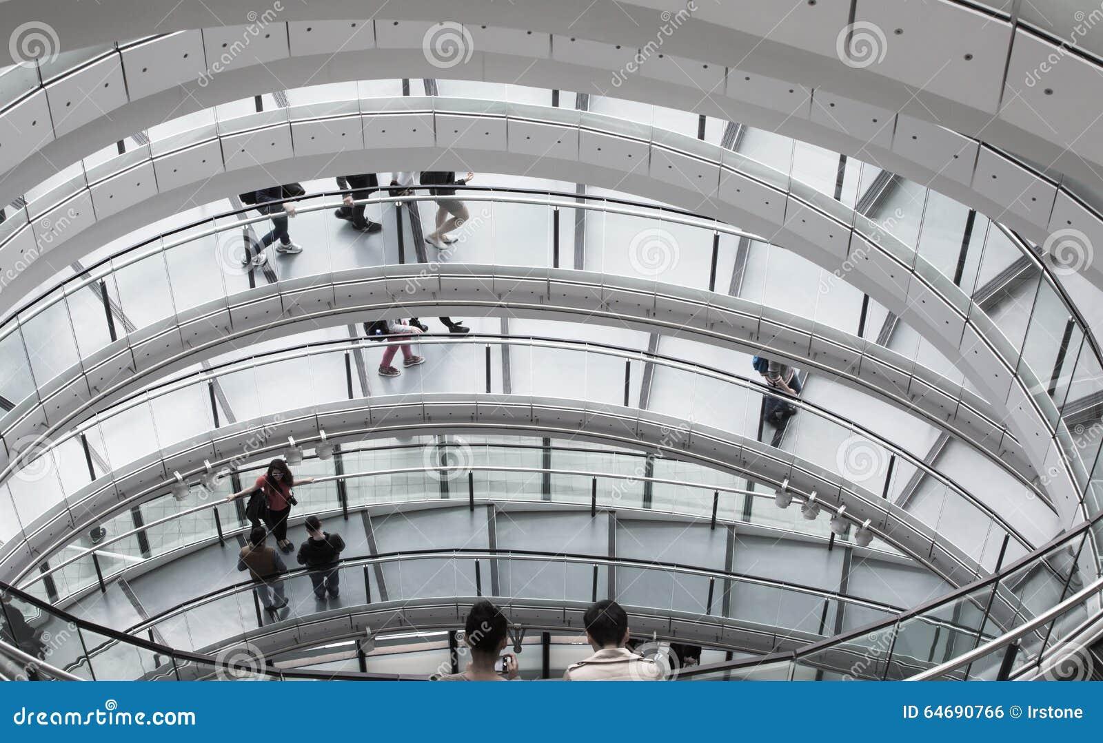 LONDRES, interior da câmara municipal staircase